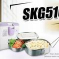 Hộp cơm điện inox SKG 510 giá rẻ nhất,nhập khẩu CHLB Đức,đa chức năng nấu cơm,hâm nóng chỉ trong ít phút