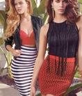 Các loại váy được ưa chuộng năm 2014: Chân váy chấm bi, chân váy kẻ, váy ren đỏ đun, váy in họa tiết hoa chìm nổi,...
