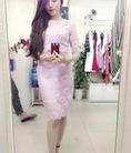 Váy ren tím mộng mơ new 99%