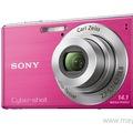 Bán máy ảnh sony W530 màu hồng, quay phim, chụp hình 14.1 megapixel