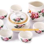 Bộ ấm trà Hoa Mẫu Đơn