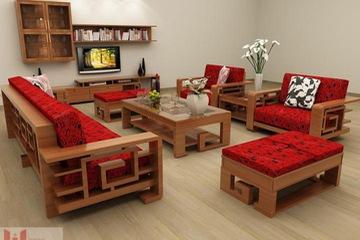 sofa gỗ đẹp Nội Thất Hương Linh