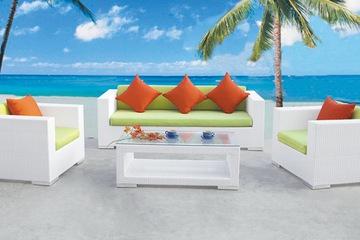 Sofa, salon nhựa giả mây