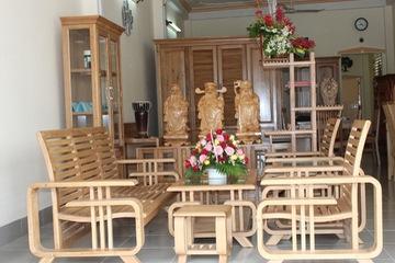 sofa gỗ hiện đại, sofa gỗ đệm khuyến mãi cuối năm chỉ 15 triệu