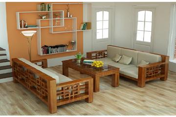 sofa gỗ tự nhiên, sofa gỗ sồi khuyến mãi tết chỉ có 15 triệu