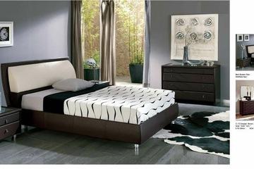 MSP 068: Giường ngủ gỗ veneer sồi đẹp mẫu 2014