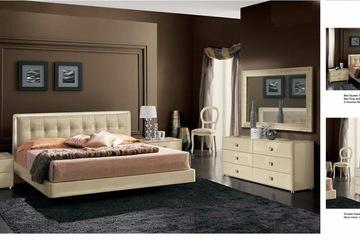 MSP 065: Giường ngủ gỗ veneer sồi đẹp mẫu 2014