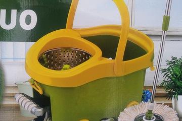 Chổi lau nhà Easy mop 360 độ lồng Inox, bàn đạp Inox cực chắ