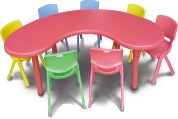 Bàn ghế trẻ em cao cấp hình bán nguyệt