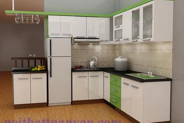 Tủ bếp gỗ Công Nghiệp MDF
