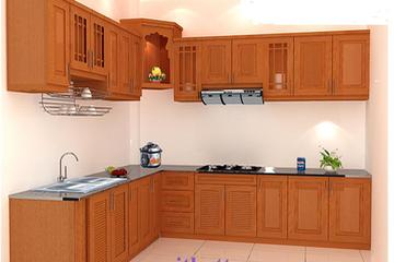 Tủ bếp Xoan Đào HAGL tại xưởng sx
