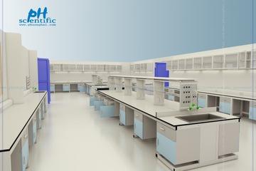 Bàn thao tác phòng thí nghiệm   kiểm nghiệm chống hóa chất