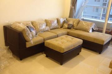 Sofa cao cấp hàng xuất US, vải microfiber nhập khẩu..