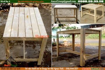 bàn gỗ thông pallet