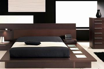 Giường ngủ chất liệu veneer sồi 015